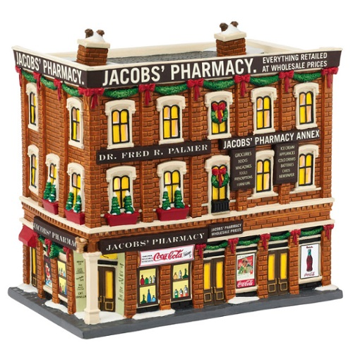 "Department 56 Christmas In The City - ""Jacobs' Pharmacy"""