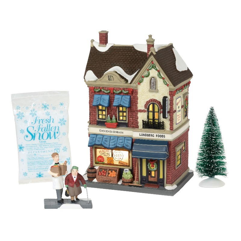 Department 56 Christmas in the City - Lundberg Foods Set 2018