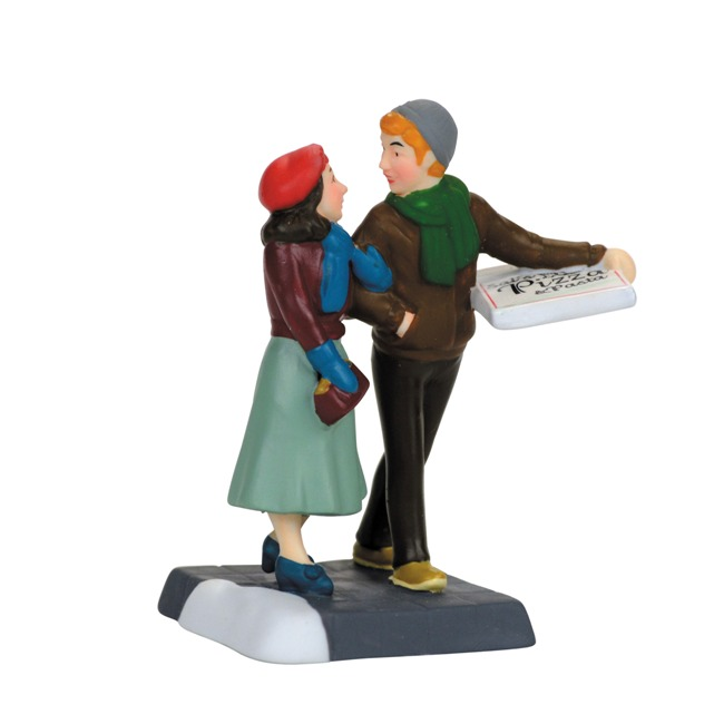 "Department 56 Christmas in the City - ""Pizza Date"""