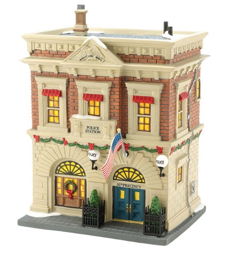 "Department 56 Christmas In The City - ""Precinct 56 Police Station"""