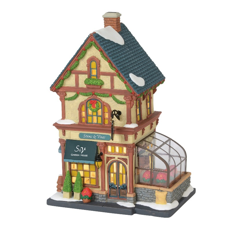 "Department 56 Christmas in the City - ""Stems & Vines Garden House"" 2018"