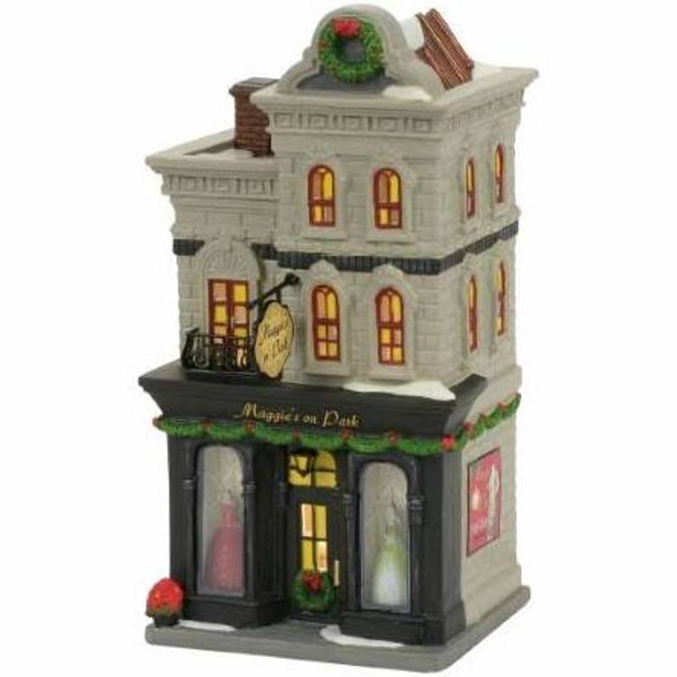 "Department 56 Christmas in the City Village - ""Maggie's On Park"""
