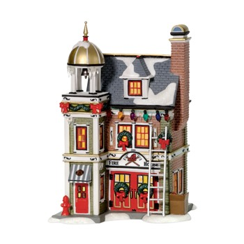 """Department 56 Christmas Story Village - """"Firehouse"""""""