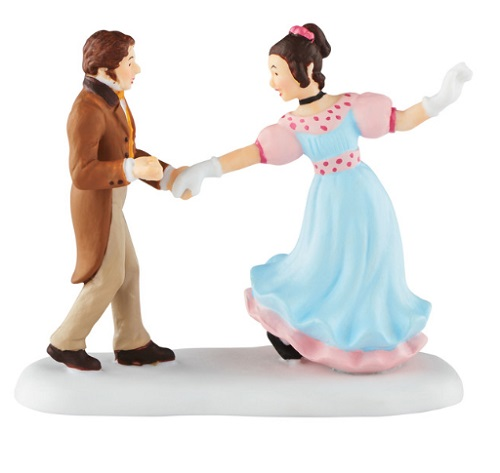 """Department 56 Dickens' Village Accessory - """"A Dance With Belle"""" - A Christmas Carol"""