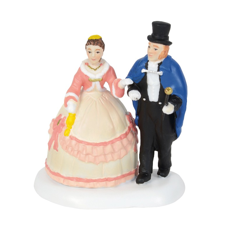 Department 56 Dickens Village Accessory - An Elegant Evening Out 2018