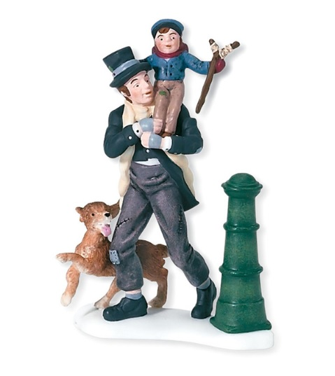 Department 56 Dickens Village Accessory - Bob Cratchit and Tiny Tim - A Christmas Carol