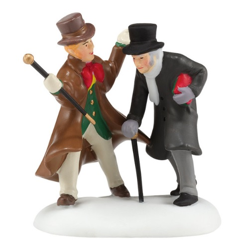 "Department 56 Dickens' Village Accessory - ""Christmas A Humbug, Uncle"" - A Christmas Carol"
