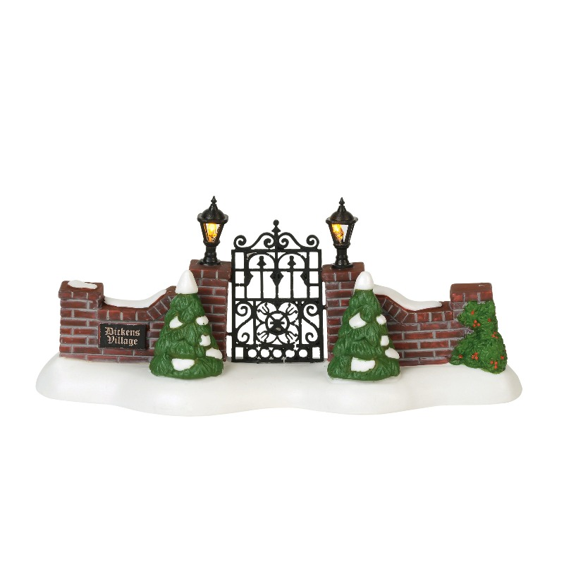 "Department 56 Dickens Village Accessory- ""Dickens' Village Gate"" 2018"