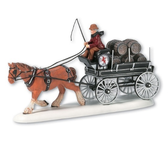 "Department 56 Dickens' Village Accessory - ""Red Lion Pub Beer Wagon"""