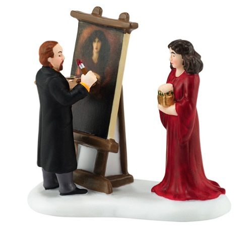 "Department 56 Dickens' Village Accessory - ""Rossetti & His Muse"""