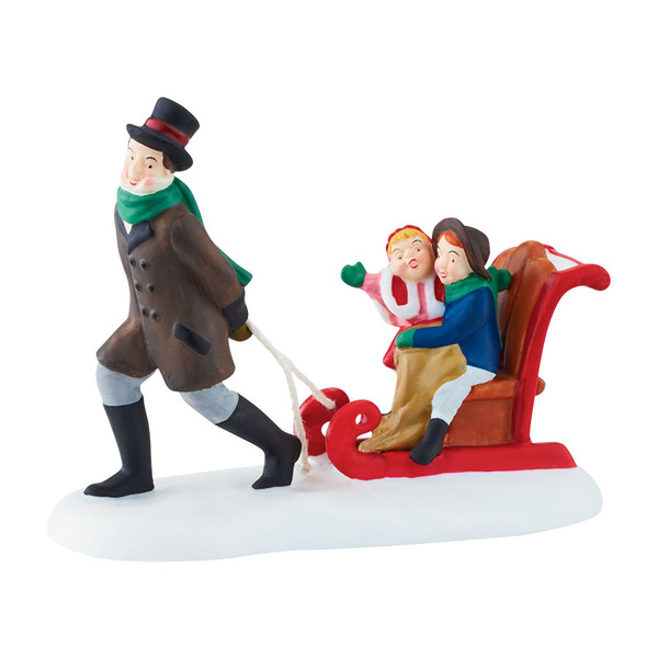 "Department 56 Dickens' Village Accessory - ""Sledding At The Fair"""