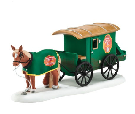 Department 56 Dickens Village Accessory - Swan & Trumpet Beer Wagon