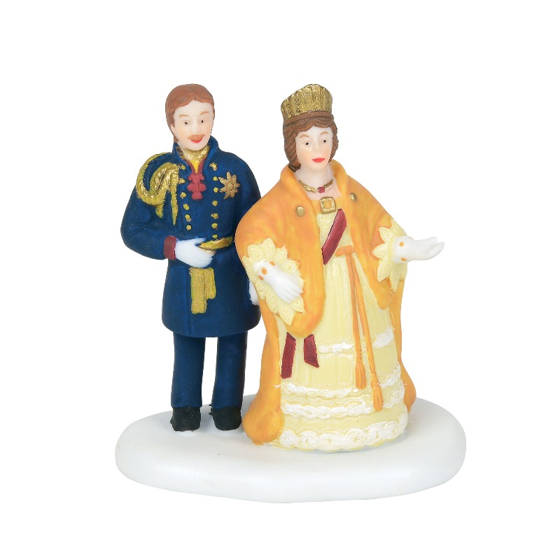 "Department 56 Dickens Village Accessory- ""Victoria and Albert"" 2018"