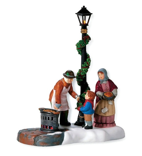 Department 56 Dickens Village Accessory - Chestnut Vendor - A Christmas Carol