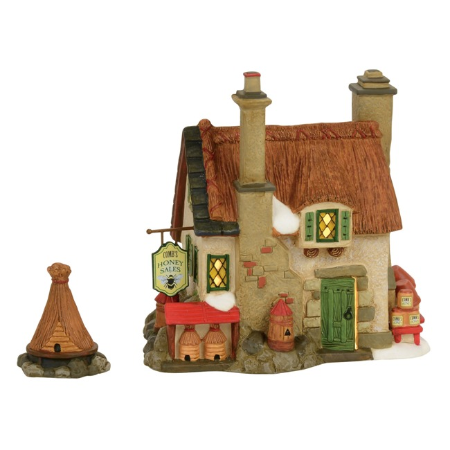 "Department 56 Dickens Village - ""Comb's Honey Cottage"" - Set of 2"