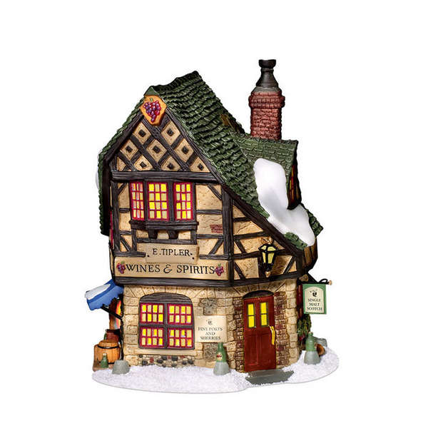 "Department 56 Dickens' Village  - ""E. Tipler, Agent For Wines & Spirits"""