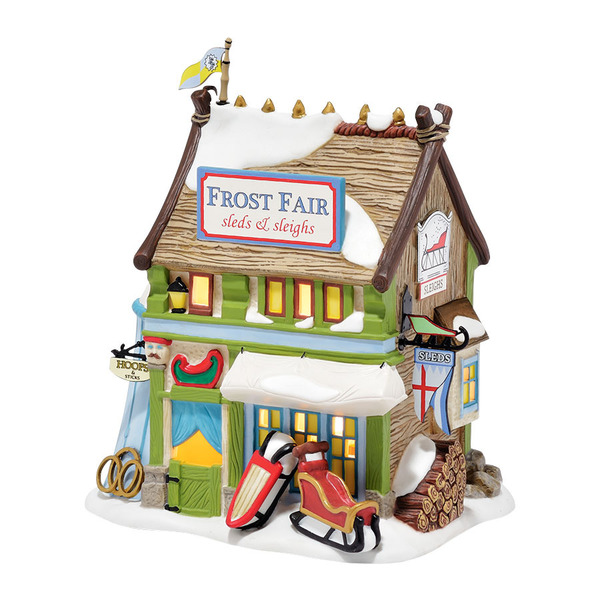 "Department 56 Dickens' Village - ""Frost Fair Sled & Sleigh Rental"""