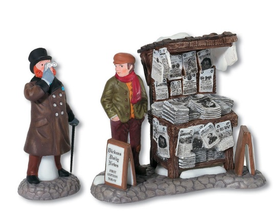 "Department 56 Dickens' Village  - ""London Newspaper Stand"""