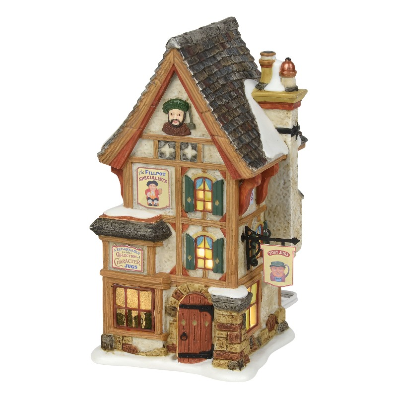 "Department 56 Dickens Village - ""Olde Pearly's Toby Jugs"" 2018"