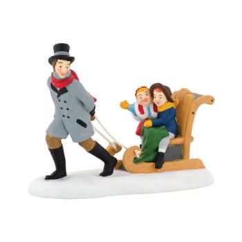 Department 56 Dickens Village Accessory - Sledding at the Fair