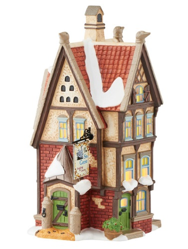 "Department 56 Dickens' Village - ""The Six Geese Bedding & Down"""