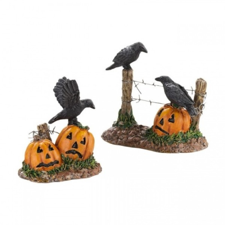 "Department 56 Halloween Accessory - ""Halloween Ravens"""