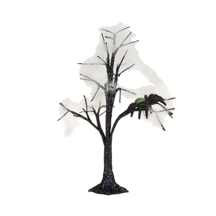 "Department 56 Halloween Accessory - ""Haunted Spider Tree"""