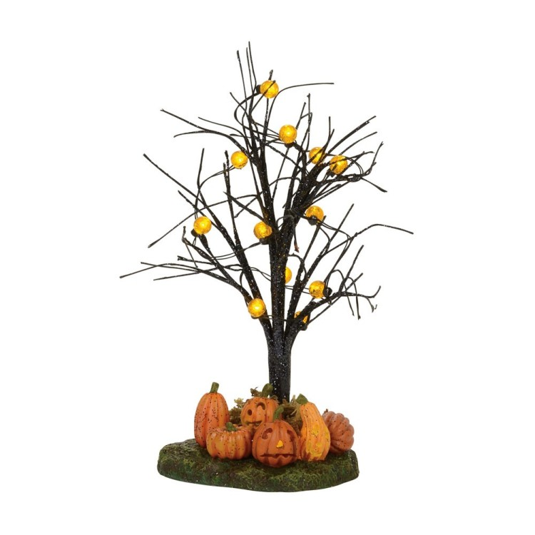 "Department 56 Halloween Accessory - ""Lit Jack-O-Lantern Tree"""