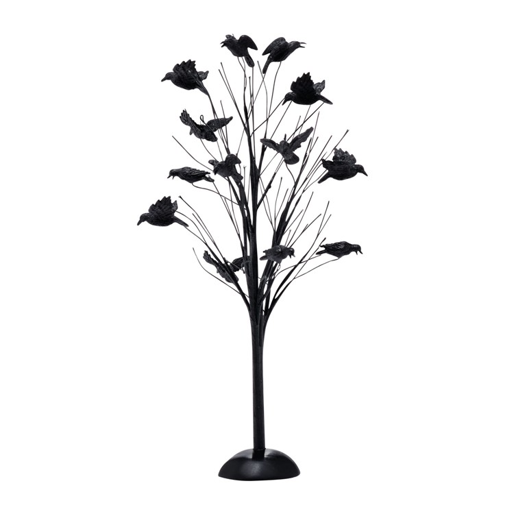 "Department 56 Halloween Accessory - ""Murder Of Crows Tree"""