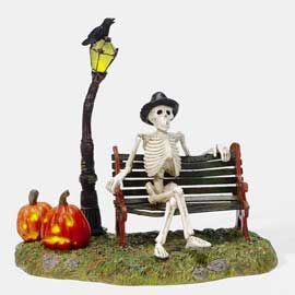 "Department 56 Halloween Accessory - ""Resting My Bones"""