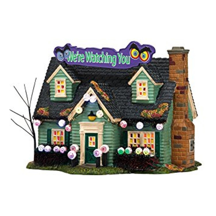 "Department 56 Snow Village Halloween - ""Glares And Stares House"""