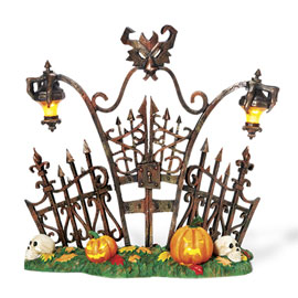 "Department 56 Halloween - ""Gothic Gate"""