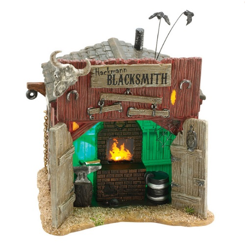 "Department 56 Halloween - ""Hackmann's Blacksmith Shop"""