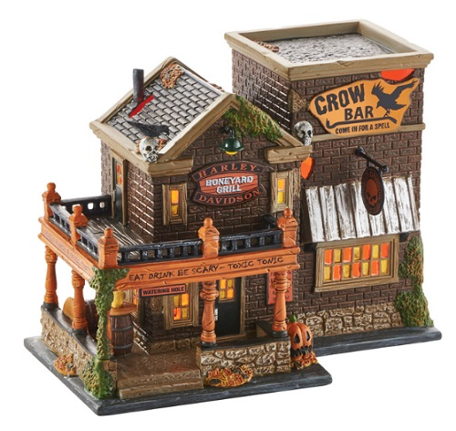 "Department 56 Halloween - ""Harley� Crow Bar"""