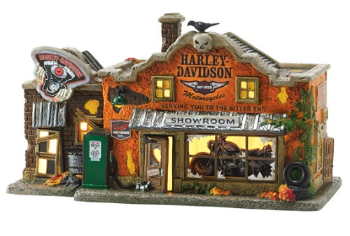 "Department 56 Halloween - ""Harley-Davidson's Last Chance"""
