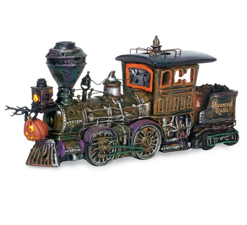 "Department 56 Halloween - ""Haunted Rails Engine & Coal Car"" -  Halloween 10th Anniversary Piece"