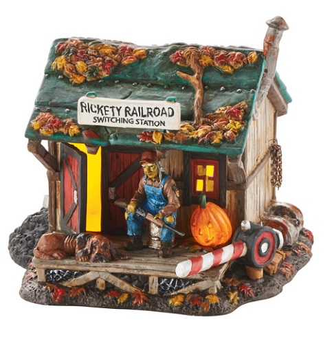 "Department 56 Halloween - ""Haunted Rails Outpost"""