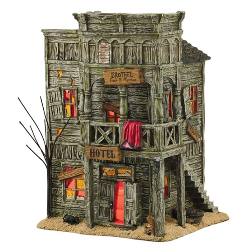 "Department 56 Halloween - ""Last Chance Hotel"""