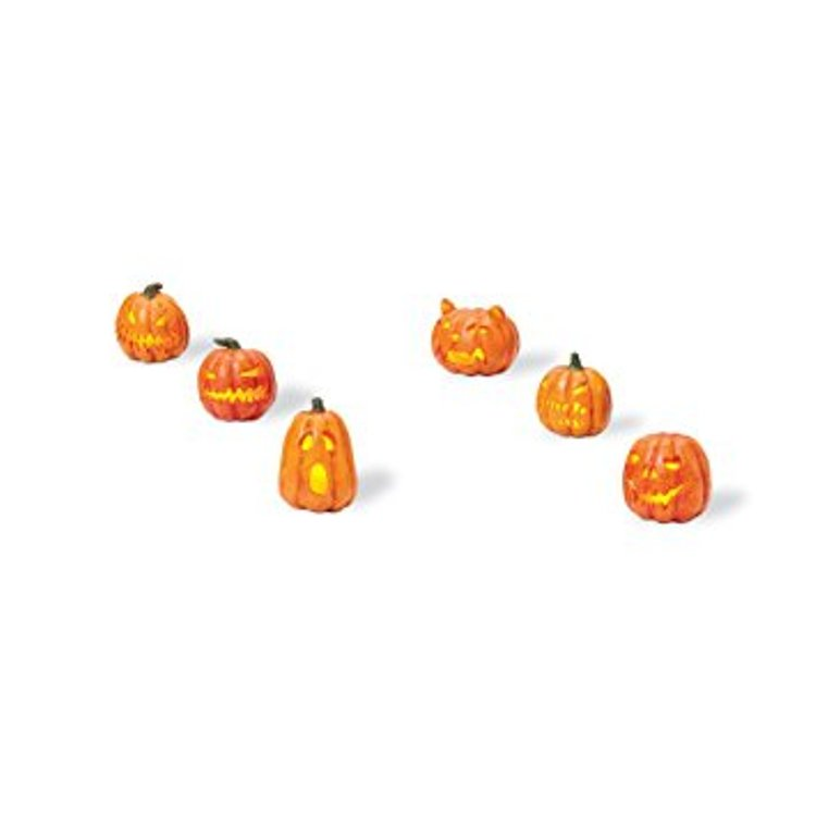 "Department 56 Snow Village Accessory - ""Lit Jack-O-Lanterns"""
