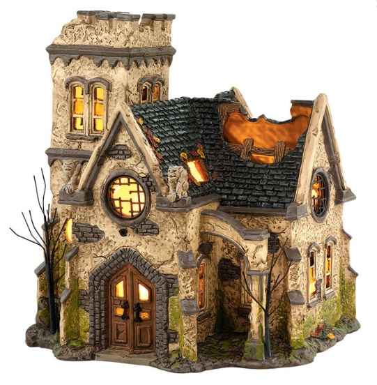 "Department 56 Halloween - ""The Haunted Church"""