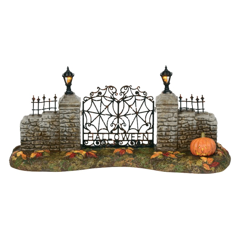 "Department 56 Halloween Village Accessory - ""Halloween Village Gate"" 2018"