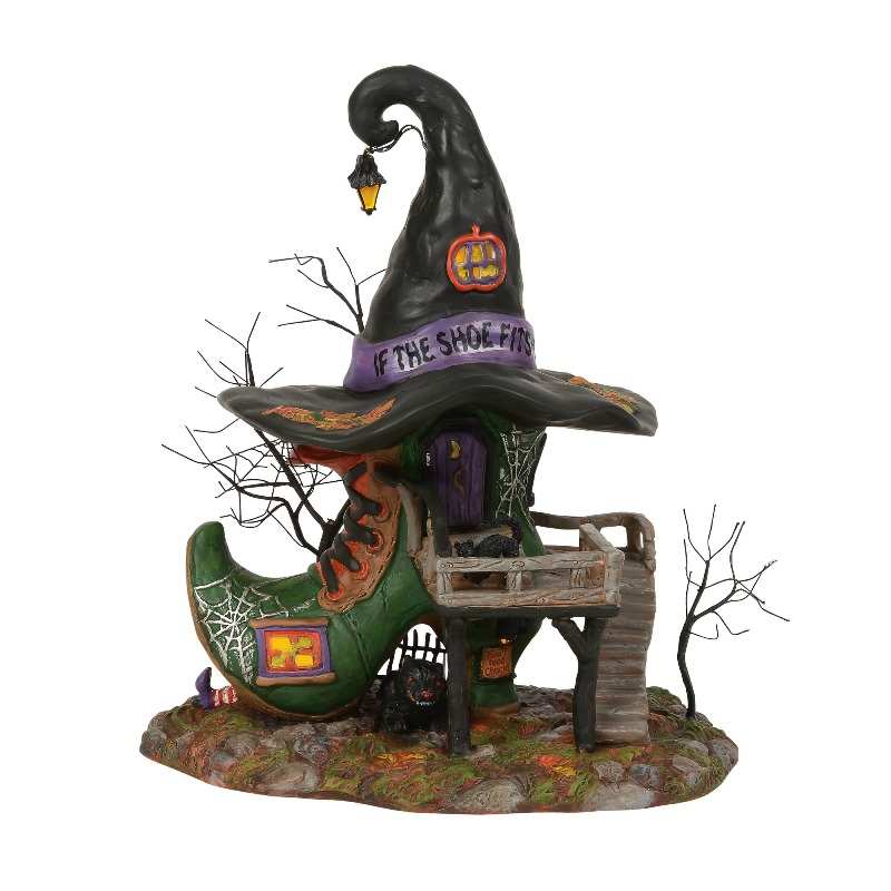 "Department 56 Halloween Village - ""Esmeralda's Shoe Shop"" 2018"