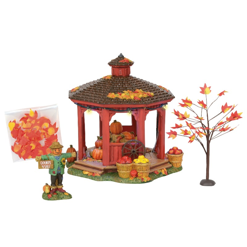 department 56 halloween village harvest gazebo gift set 2018