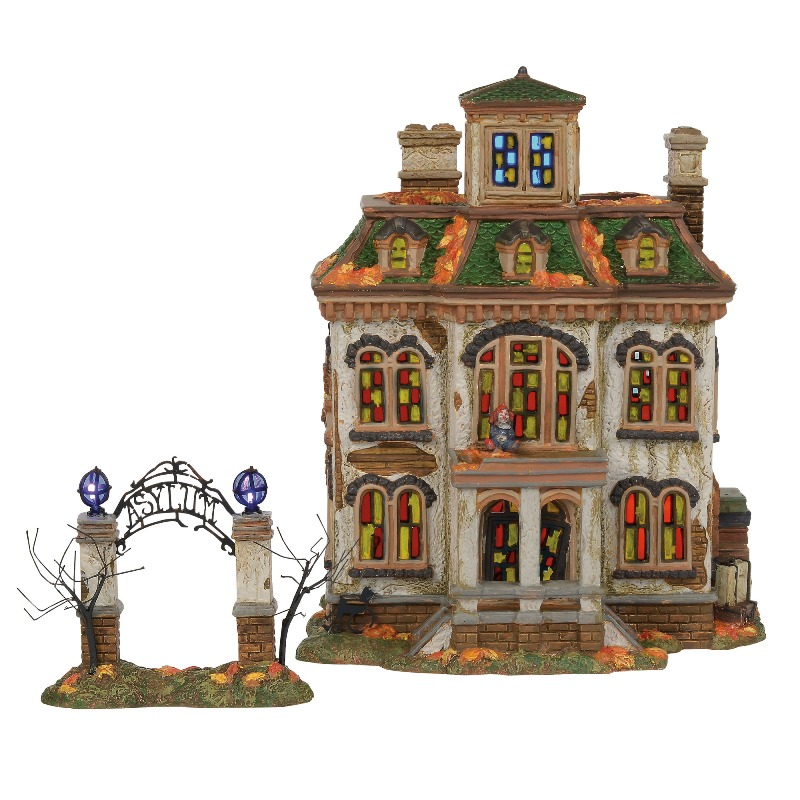 department 56 halloween village last laugh asylum 2018