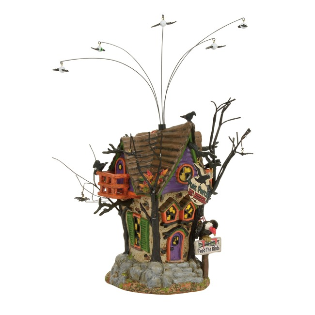 department 56 halloween village poes perch aviary