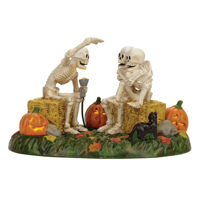 "Department 56 Halloween Village - ""Scary Skeleton Stories"""
