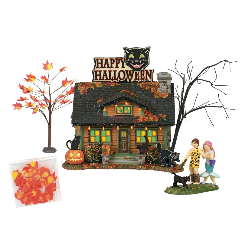 "Department 56 Halloween Village - ""The Black Cat Flat"" 2018"