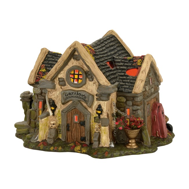 "Department 56 Halloween Village - ""The Haunted Cemetary Shed"""