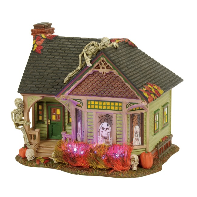 "Department 56 Halloween Village - ""The Skeleton House"""