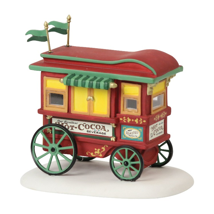"Department 56 Heritage Village - ""Village Friends Cocoa Cart Kit"""